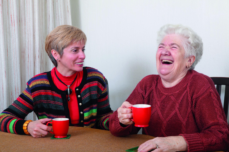 Samen lachen, ook bij dementie